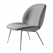 Beetle Lounge Chair, Musta Kromi/ Remix 123